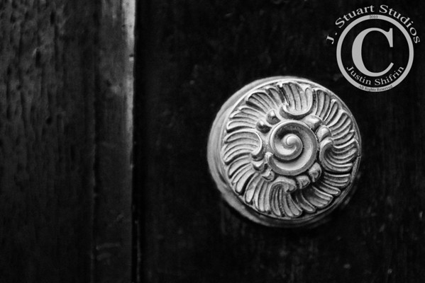 Venetian Knob  Although this image was originally exposed with a painted green door and brass handle, this version converted to black and white using Nik Silver Efex Pro is more striking.  The doors in Venice, Italy are some of the best I have encountered.  More doors, mailboxes, and door details to come.  Ago vita vos somnium (live the life you dream)