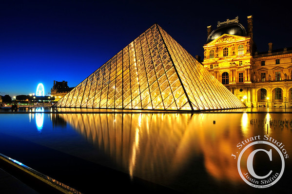 Soft Pyramid, Last Light Simply stated, this photograph was taken in Paris right before the sky turned fully to black.  Ago vita vos somnium (live the life you dream)