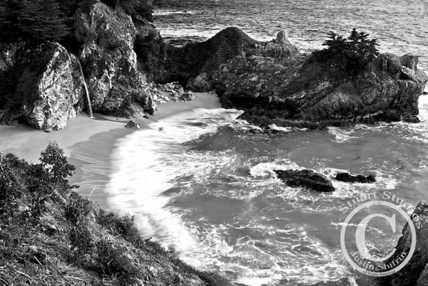 McWay Cove  This stormy afternoon set the scene at McWay Falls.  Using a long exposure helped bring enough detail out of the dark rocks and also nicely captured the waves.  Ago vita vos somnium (live the life you dream)